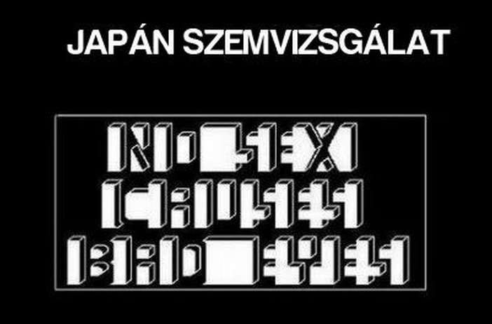 japán szemvizsgálat